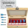 Stalwart™ 75-RTB5 5 Piece Carbide Modelling Router Bit Set