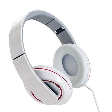 Sunbeam 72-SB540-WH Stereo Bass Foldable Headphone with Mic, White