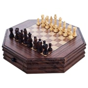 Trademark Games™ Octagonal Chess and Checkers Set