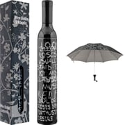 Trademark Home™ Wine Bottle Umbrella, Black/Silver
