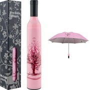 Trademark Home™ Wine Bottle Umbrella, Pink/Red