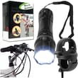 Whetstone™ 14 LED Flashlight With Bicycle Clip, Black