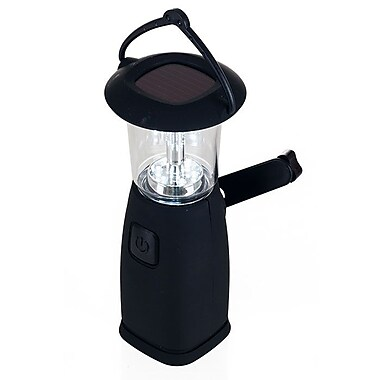 Whetstone™ 6 LED Solar and Dynamo Powered Camping Lantern, Black