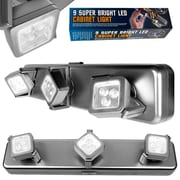 Trademark Home™ 3 Light Heads 9 Bright LEDs Under Cabinet Light Fixture