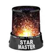 Trademark Global™ Walls and Ceiling Star Projector Light, Black Finish