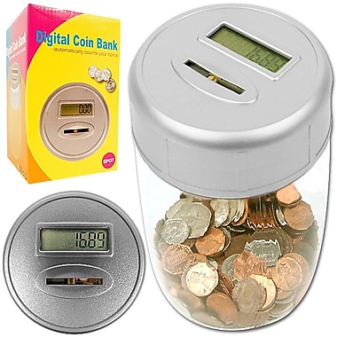 Trademark Global™ 82-19815 Ultimate Automatic Digital Coin Counting Bank