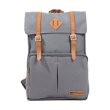 WillLand Outdoors – Sac à dos 22 l College Fortuna, gris foncé