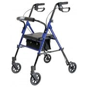 Lumex Set n  Go Height Adjustable Rolling Walker; Blue