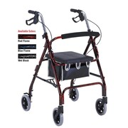 ProBasics by Invacare Rollator Rolling Walker; Red Flame