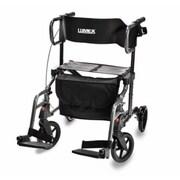 Lumex Hybrid Rollator Transport Chair; Titanium