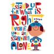 Scholastic Inspirational POP Chart, Stand-Up For What is Right Even if You are Standing Alone