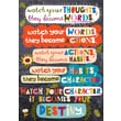Scholastic Inspirational POP Chart, Watch Your Thoughts They Become Words