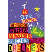 Scholastic Inspirational POP Chart, We are Thinkers Scientists Writers Artists Poets Readers