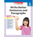Scholastic Study Smart Write Better Sentences and Paragraphs Book, Grade 4