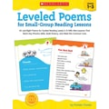 Scholastic Leveled Poems Book For Small-Group Reading Lessons, Grade 1 - 3