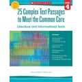 Scholastic 25 Complex Text Passages to Meet The Common Core Literature... Texts Book, Grade 4