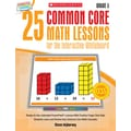 Scholastic 25 Common Core Math Lessons Book For The Interactive Whiteboard, Grade 5