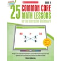 Scholastic 25 Common Core Math Lessons Book For The Interactive Whiteboard, Grade 4
