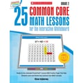 Scholastic 25 Common Core Math Lessons Book For The Interactive Whiteboard, Grade 2