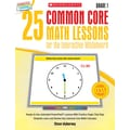 Scholastic 25 Common Core Math Lessons Book For The Interactive Whiteboard, Grade 1