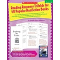 Scholastic Reading Response Trifolds For 40 Popular Nonfiction Book, Grades 4-6, Language Arts