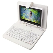 "Mgear Micro USB Keyboard Folio For 8"" Tablet, White"