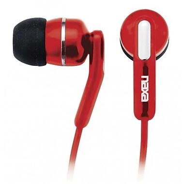 Naxa NE-921-RD High Performance Isolation Stereo Earphone, Red