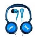 Naxa® NE-926 2-in-1 Super Bass Stereo Headphone and Earphone, Blue