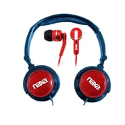 Naxa Super Bass NE-926RD 2-in-1 Stereo Headphone and Earphone, Red