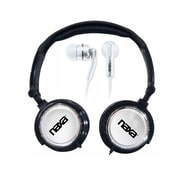 Naxa Super Bass NE-926SV 2-in-1 Stereo Headphone and Earphone, Silver