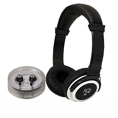 Supersonic Rockerz IQ-212 2-in-1 Deep Bass Stereo On-Ear Headphone and Earphone, Black