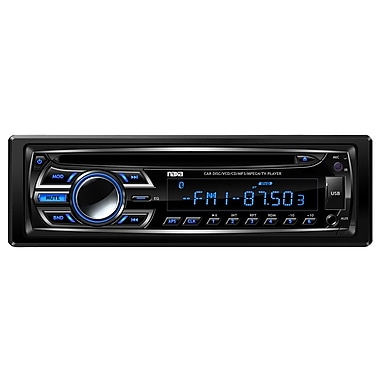 Naxa® NCA-604 AM/FM Radio MP3/CD Player With Anti-Skip Protection and Remote Control