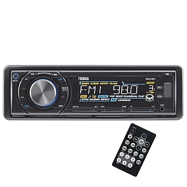 Naxa® NCA-601 Fold Down AM/FM Radio MP3/CD Player With Anti-Skip Protection and Remote Control