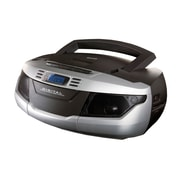 Supersonic® SC-184UB Portable MP3/CD Player With Cassette Recorder and AM/FM Radio, Silver