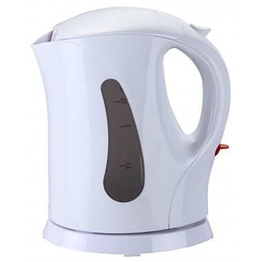 Brentwood® 1 Litre Cordless Plastic Tea Kettle, White