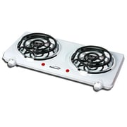 Brentwood® 1500 W Electric Double Burner, White