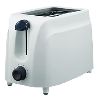 Brentwood 750 W Two Slice Cool Touch Toaster, White
