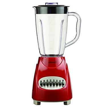 Brentwood® 12 Speed Blender With 1.5 Litre Plastic Jar, Red