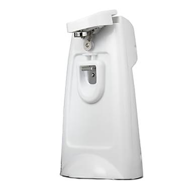 Brentwood® Can Opener With Chromed Built-in Bottle Opener & Knife Sharpener, White