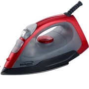 Brentwood 1000 W Non-Stick Steam/Dry/Spray Iron, Red