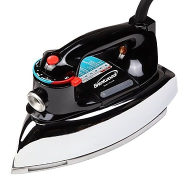 Brentwood 1100 W Classic Non-Stick Steam/Dry Iron, Black
