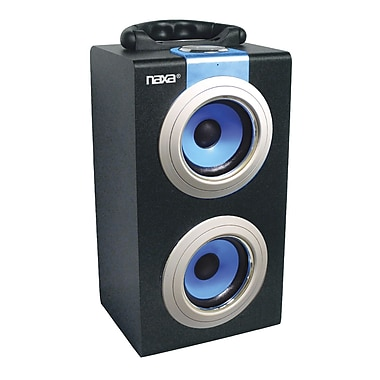 Naxa® NAS-3035 10 W Portable Speakers With USB/SD/MMC Inputs/FM Radio