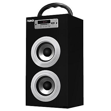Naxa® NAS-3036 10 W Portable Speaker With USB/SD/MMC Inputs/FM Radio, Silver
