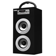 Naxa® NAS-3036 10 W Portable Speaker With USB/SD/MMC Inputs/FM Radio, Silver