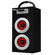 Naxa® NAS-3036 10 W Portable Speaker With USB/SD/MMC Inputs/FM Radio, Red