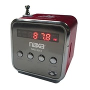 Naxa® NAS-3051 2.5 W Portable Speaker With USB/SD/MMC Inputs/FM Radio, Red