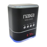 Naxa® NAS-3053 3 W Portable Speaker With USB/SD/MMC Inputs/FM Radio, Black