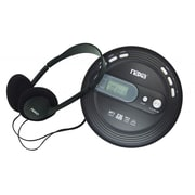 Naxa® NPC-330 Slim Design MP3/CD Player With Anti Shock and FM Scan Radio, Black