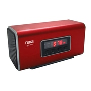Naxa® NAS-3054 6 W Portable Speaker With USB/SD/MMC Inputs/FM Radio, Red