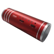 Naxa® NAS-3055 3 W Portable Tube Speaker With USB/SD/MMC Inputs/FM Radio, Red